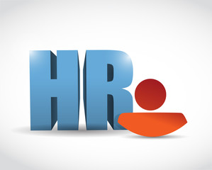 human resource icon illustration design