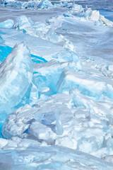 Winter lake Baikal