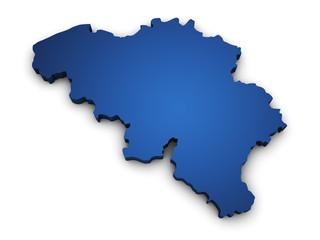 Map Of Belgium 3d Shape