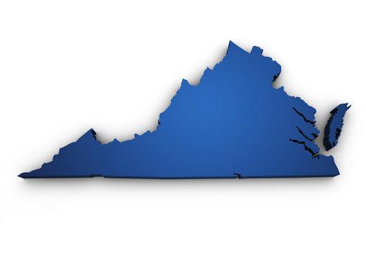 Map Of Virginia 3d Shape