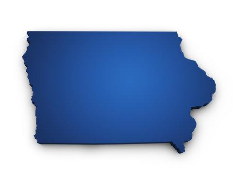 Map Of Iowa 3d Shape