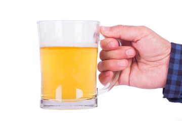 Hand Holding Full Beer Glass