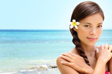 Wall Mural - Beach wellness spa beauty woman