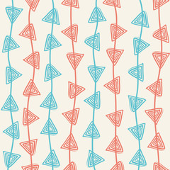 creative retro trianglel swirl design pattern vector
