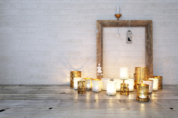 Teelichter am Boden - Candle lights on floor