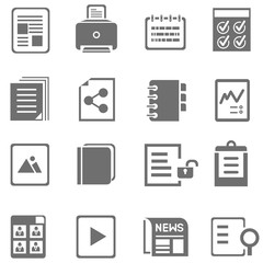 file icons set, document icons