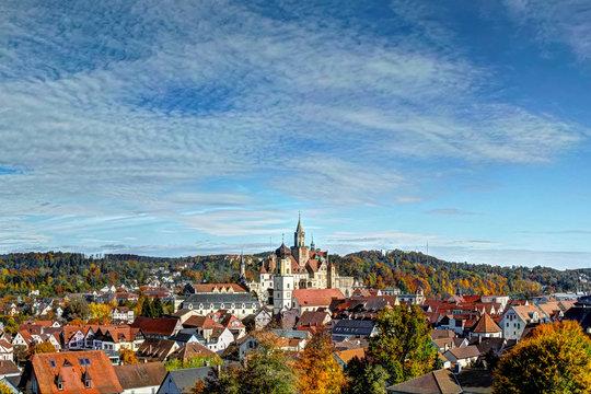 Sigmaringen: Blick über die Altstadt
