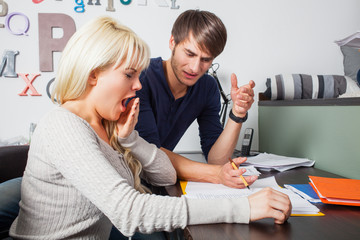 Studenten beim lernen