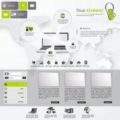 Template for Professional website, eps10 vector,