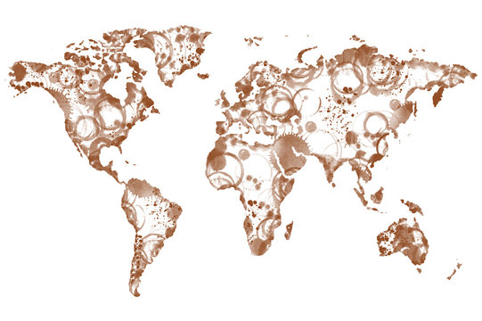World coffee map