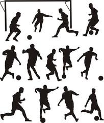 soccer or football icons - team sport