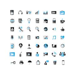 2 Color Web Icon set