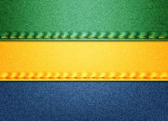 Denim Gabon flag