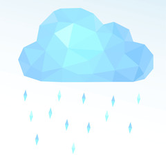 polygonal cloud. Vector illustration