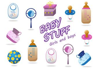Baby Stuff Icons - Isolated On White Background