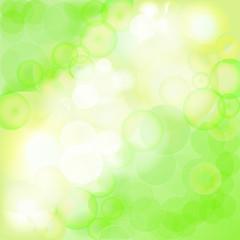 Green Bokeh Background - Vector