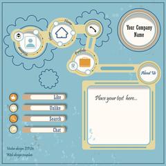 Business Website Design Template - Vector
