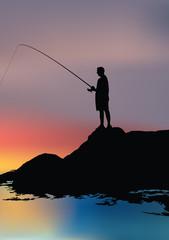 pescatore al mare