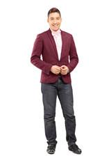 Full length portrait of a handsome male model posing