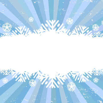 Winter snowflakes backgrounds, vector illustration