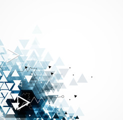 triangle futuristic internet high computer technology business