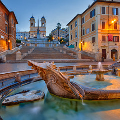 Wall Mural - Spanish Steps at dusk, Rome