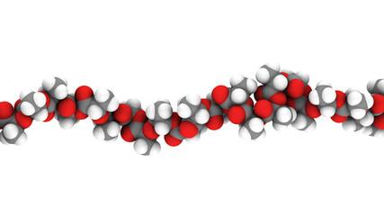Fototapeta Polylactic acid (PLA, polylactide) bioplastic obraz