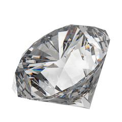 Diamond on white 3d