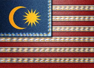 Denim Malaysia flag