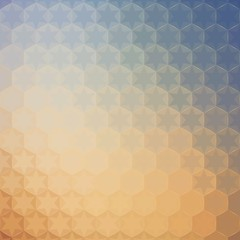 Abstract geometric pattern of hexagons and stars.