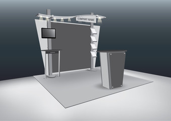 Vector Blank trade exhibition stand