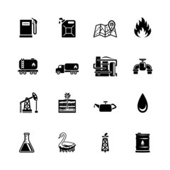 vector oil icon set