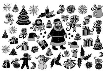 big vector christmas icon set