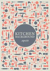 Vector kitchen background