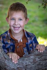 Enfant jouant dans un arbre