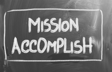 Mission Accomplish Concept