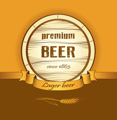 beer keg for lable, package