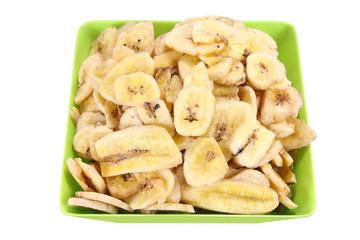 Bowl of Banana Chips