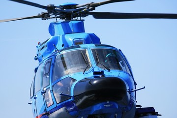 Helicopter fliying: detail