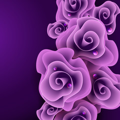 Purple Rose Background.