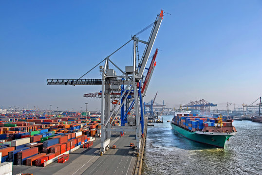 Container Terminal - Hamburg.