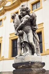 Sculpture of cherub in Prague, Czech Republic