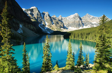 Photo sur Aluminium Lac / Etang Lake Moraine, Banff national park