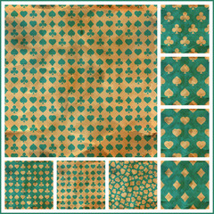 Card suits. Seamless pattern.