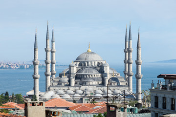 Blue Mosque at Istanbul , Turkey