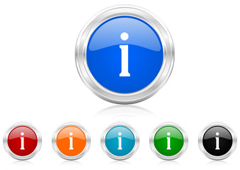 information icon vector set