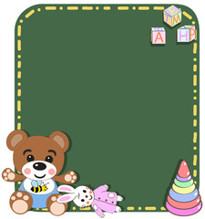 baby toys vector/illustration . Toys background. Template for