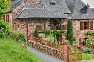 France, picturesque village of Collonges la Rouge