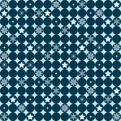 Vector background with repeating geometric circles with christma