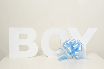 Baby Boy  letters for Invitations
